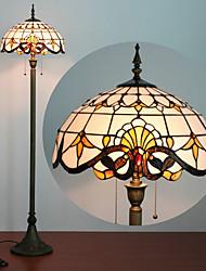 Недорогие -Тиффани стиль торшер 61 дюймов высокий белый витраж в стиле барокко, антикварная основа для спальни, гостиной, чтения освещения столовый набор