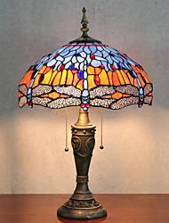 Недорогие -Бабочки украшения настольные лампы, свет 2, Тиффани Смола Стекло картины