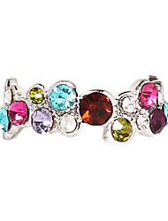 baratos -Mulheres Zircão Imitações de Diamante Liga Colares Declaração - Luxo Colorido Anel Para Festa Diário