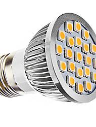 e26 / e27 spotlight conduzido mr16 21 smd 5050 240lm branco quente 3500k ac 110-130 ac 220-240v