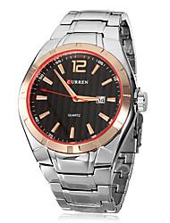 cheap -CURREN Men's Wrist Watch Quartz Calendar / date / day Stainless Steel Band Analog Charm Dress Watch Silver - Black Gold / Black Gold / Silver