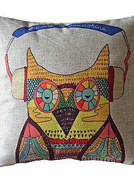 Cool Owl Dekorative Pillow Cover