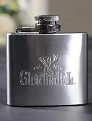 Regalo personalizzato 2 once di metallo lettere maiuscole Flask