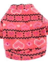 cheap -Dog Sweatshirt Dog Clothes Heart Rose Polar Fleece Costume For Pets Men's Women's Casual/Daily Keep Warm