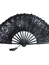 cheap -Black Lace Hand Fan Wedding Favors Classic Them Chic & Modern