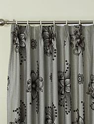 Недорогие -страна две панели цветочные ботанические серый постельное белье панельные шторы шторы