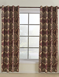 cheap -Rod Pocket Grommet Top Tab Top Double Pleat Curtain Rococo, Jacquard Dining Room 100% Polyester Polyester Material Home Decoration