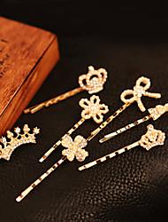 Dolce oro in lega Barrettes per le donne (Gold) (1 Pc)