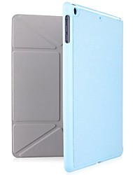 cheap -Case For Apple with Stand / Origami Full Body Cases Solid Color Genuine Leather for iPad Air