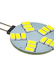 olcso -G4 LED szpotlámpák 15 led SMD 5630 Hideg fehér 330lm 5500-6500K DC 12V