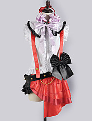 Inspired by Love Live Nozomi Tōjō Video Game Cosplay Costumes Cosplay Suits / School Uniforms Patchwork White / Red SleevelessTop / Skirt