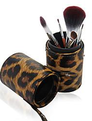 Недорогие -Pro Высокое качество 7 ПК Синтетический волос кисти для макияжа Набор Tube Leopard цилиндра