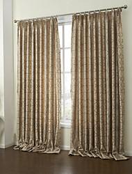 baratos -rococó dois painéis paisley cortinas de painel de poliéster quarto de chocolate cortinas