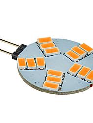 billige -180-320 lm G4 LED-spotpærer 15 LED perler SMD 5630 Varm hvit 12 V / #