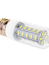 cheap -760lm E26 / E27 LED Corn Lights T 36 LED Beads SMD 5630 Cold White 220-240V