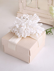 Cubic Card Paper Favor Holder With Flowers Ribbons Favor Boxes-12