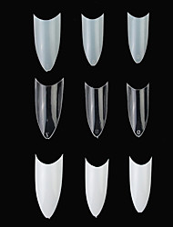 A forma di C 100PCS professionale falsa francese Acrilico Nail Art Tips (colori assortiti)