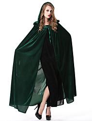 povoljno -Čarobnjak/vještica Plašt Ženka Halloween Karneval Festival/Praznik Halloween kostime Plav Zelen Jednobojni