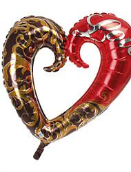 Red & Chocolate Coração metálico Balão