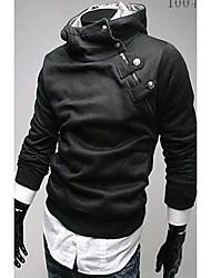 Zhelin Oblique Zipper Collar Fortyknet Fleece Hoodie Coat