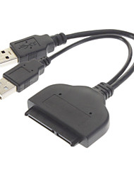 "USB 3.0 to SATA 22-Pin 2.5"" Hard Disk Driver Adapter Cable - Black (18cm)"