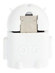 Micro USB 2.0 a USB 2.0 M / F OTG Adapter Bianco