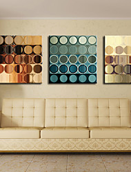 cheap -Stretched Canvas Print Art Abstract Circles Set of 3