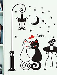 Недорогие -ночь любители фонарь кошка рисунок пвх поделки обоев