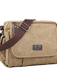 Unisex Bags All Seasons Canvas Shoulder Bag for Casual Black Coffee Khaki