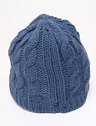 Chunyazi Casual Warm Solid Color Hat(Blue)