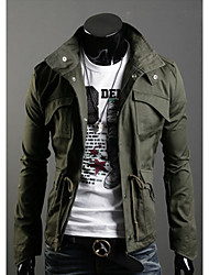 cheap -Men's Coats / Jackets Chic & Modern Jacket-Solid Colored