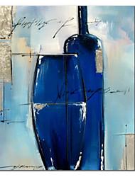 Pintados à mão pintura a óleo Vessels Blue Life, com quadro esticado