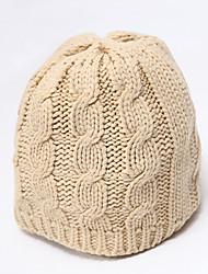 Chunyazi Casual Warm Solid Color Hat
