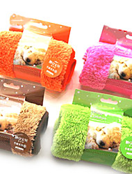 cheap -Dog Towel Cleaning Pet Mats & Pads Soft Orange Coffee Green Pink For Pets