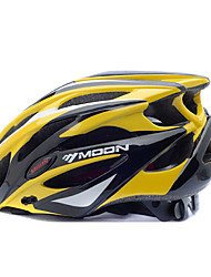 cheap -MOON BIke Helmet Cycling Yellow+Black PC+EPS 25 Vents MTB Protective Helmet