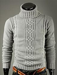 abordables -v de alta solapa suéter cuello de la manera de adelgazamiento (gris claro)