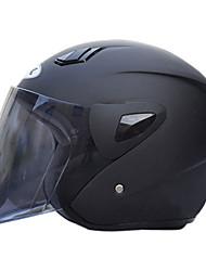 711-1 abs material de motocicleta meio capacete (com a lente tawny, cores opcionais)