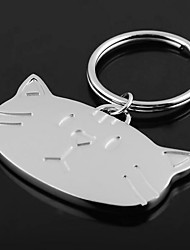 abordables -Llavero personalizado Grabado Regalo Head Cat Shaped