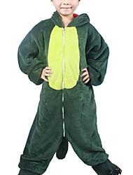 Kigurumi plišana pidžama Dinosaur Onesie pidžama Kostim Flanel Flis Zelen Cosplay Za Dječji Zivotinja Odjeća Za Apavanje Crtani film Noć