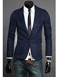 cheap -Men's Blazer-Solid Colored,Formal Style Notch Lapel / Long Sleeve / Work