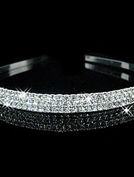 cheap -Crystal Rhinestone Fabric Tiaras Headbands 1 Wedding Party / Evening Headpiece