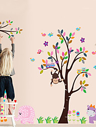 cheap -DIY Wall Stickers Monkey Animal in the Zoo Self-adhesive Plastic Washable Wall Decals