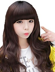 Women Long Body Wavy Synthetic Full Bang Wig Heat Resistant Fiber Cheap Cosplay Party Wig Hair