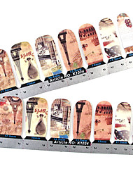 28PCS Full-tip Torre Nail Art Stickers decalcomanie