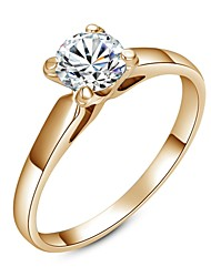 cheap -Classic Lady's Clear Simulated Diamond Wedding Ring  Elegant Style