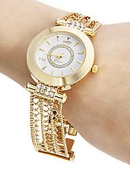 cheap -Women's Quartz Bracelet Watch Japanese Hollow Engraving Copper Band Sparkle Casual Elegant Gold