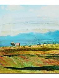 economico -Dipinto a mano olio pittura di paesaggio di primavera Campo con telaio allungato