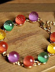 Strand Bracelet Crystal Unique Design Fashion Jewelry Rainbow Jewelry 1pc