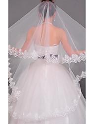 billige -En-lags Blonderet Kant Bryllupsslør Kapel Slør Med 55,12 i (140cm) Tyl A-linje, Balkjole, Prinsesse, Kappe / Række, Trumpet / Havfrue