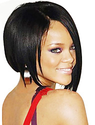 cheap -bob stort style brazilian human hair straight front lace wig